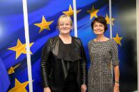 Visit of Pirkko Mattila, Finnish Minister for Social Affairs and Health, to the EC.