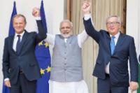 Visite de Jean-Claude Juncker, président de la CE, et Federica Mogherini, vice-présidente de la CE en Inde