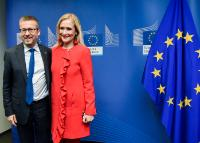 Visit of Cristina Cifuentes, President of the Government of the Autonomous Community of Madrid, to the EC