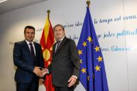 Visit of Zoran Zaev, Prime Minister of the former Yugoslav Republic of Macedonia, to the EC.