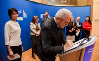 Participation of Dimitris Avramopoulos, and Marianne Thyssen, Members of the EC, in a signature ceremony with social partners