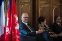 Visite de Pierre Moscovici, membre de la CE, en France