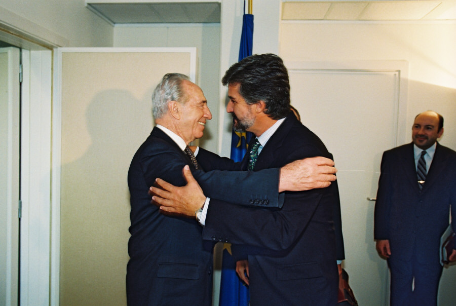 Visit by Shimon Peres, former Israeli Prime Minister and President of the