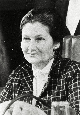 Simone Veil, President of the EP, at the European Parliament