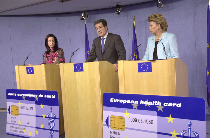 Press conference by Romano Prodi, Anna Diamantopoulou and Viviane Reding on the European Health Card
