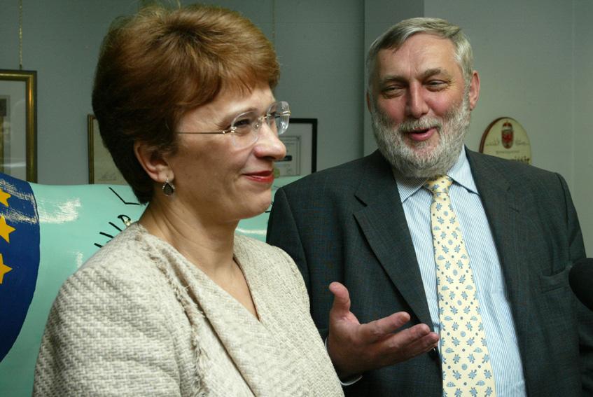Visite de Sandra Kalniete, ministre lettone des Affaires étrangères, à la CE