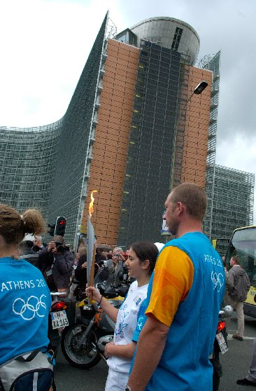 Arrival of the Olympic Torch in Brussels