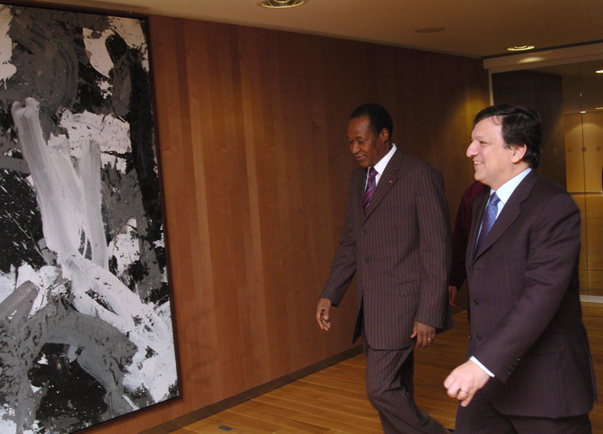 Visit of Blaise Compaoré, President of Burkina Faso, to the EC