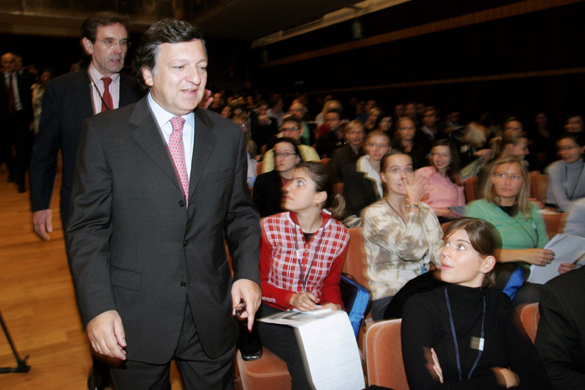 José Manuel Barroso, President of the EC, at the 45th anniversary of the trainees' programme of the EC