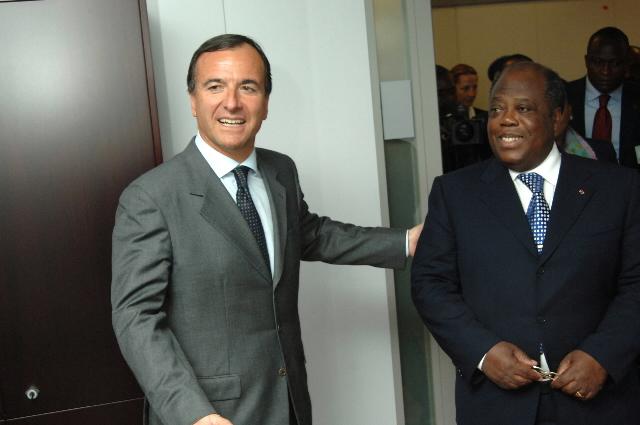Visite de Charles Konan Banny, Premier ministre ivoirien, à la CE