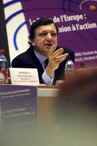 José Manuel Barroso, President of the EC at the Parliamentary meeting on the future of Europe