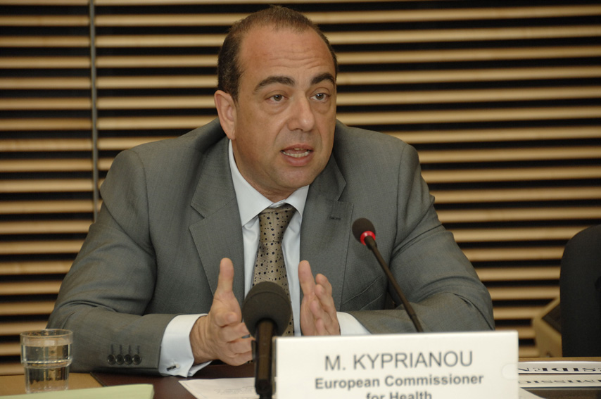 Markos Kyprianou, Member of the EC, at the Alcohol and Health Forum