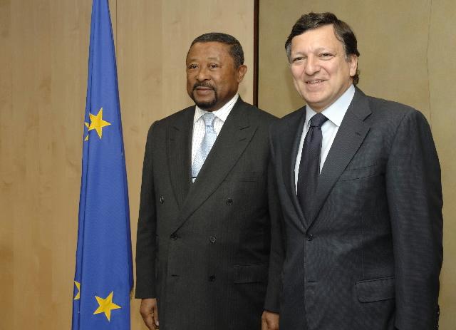 Visite de Jean Ping, président de la Commission de l'Union africaine, à la CE