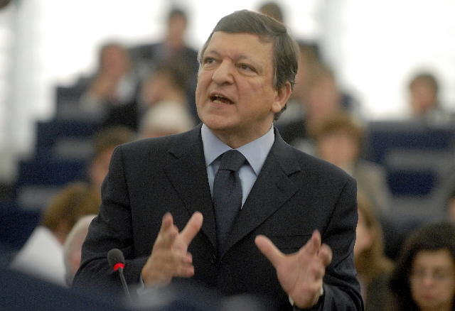 Participation of José Manuel Barroso, President of the EC, in a session of the EP
