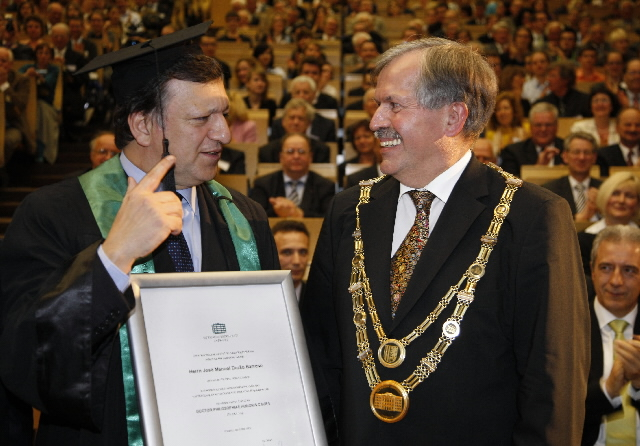 Award of the degree of Doctor Honoris Causa of the Chemnitz University of Technology to José Manuel Barroso, President of the EC