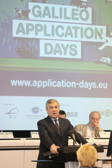 Participation of Antonio Tajani, Vice-President of the EC, at the launch of the Galileo Application Days