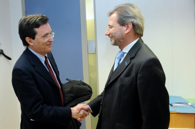 Visit of Claudio Martini, President of the Conference of Peripheral Maritime Regions of Europe, to the EC