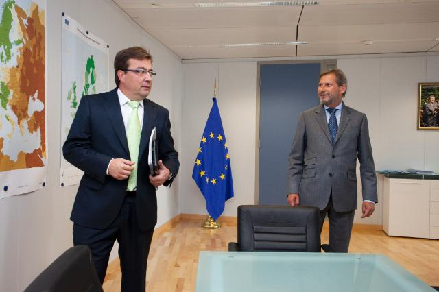 Visit of Guillermo Fernández Vara, President of Extremadura, to the EC