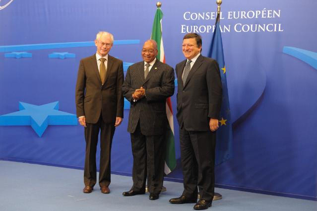 Participation de José Manuel Barroso, président de la CE, au sommet UE/Afrique du Sud