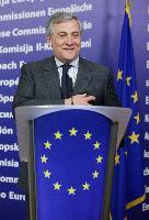 Conférence de presse d'Antonio Tajani, vice-président de la CE, sur la clôture de la première phase d'enregistrement des substances chimiques les plus utilisées fixée par le règlement REACH