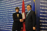 Visit of Micheline Calmy-Rey, President of the Swiss Confederation, to the EC