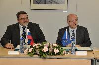 Signature of a cooperation agreement with the Russian competition authority, by Joaquín Almunia, Vice-President of the EC, and Igor Artemiev, Head of the Federal Antimonopoly Service of Russia