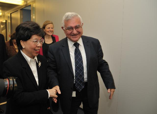 Visit of Margaret Chan, Director-General of the WHO, to the EC