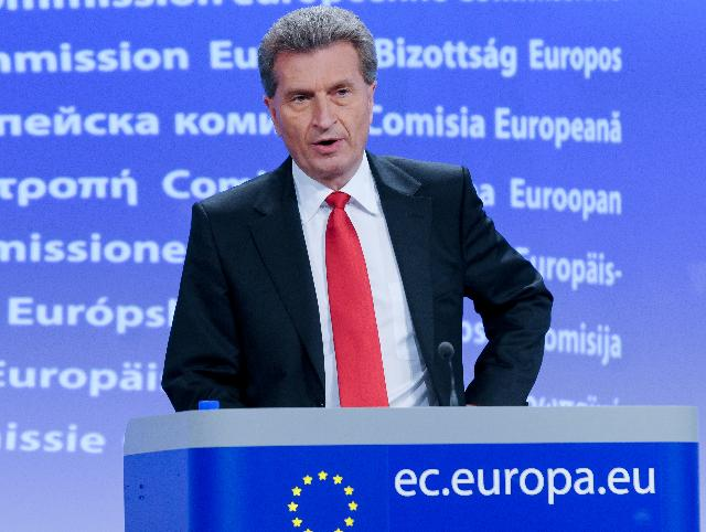 Press conference by Günther Oettinger, Member of the EC, on agreed nuclear stress tests