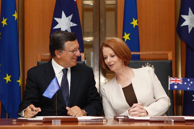 Visite de José Manuel Barroso, président de la CE, en Australie et Nouvelle-Zélande