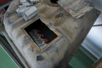 Cigarettes smuggled  inside a car tank