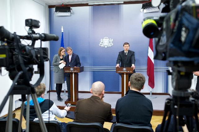 Visite de Johannes Hahn, membre de la CE, en Lettonie