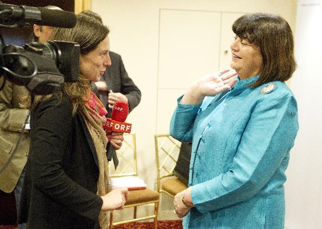 Visite de Máire Geoghegan-Quinn, membre de la CE, en Autriche