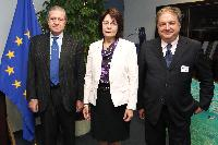 Visit of Adolfo Valsecchi, Chair of Mareblu Italia, and Guido Milana, Member of the EP, to the EC
