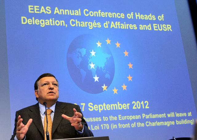 Participation of José Manuel Barroso, President of the EC, in the Annual Conference of EU Heads of Delegation, Chargés d'Affaires and EUSR