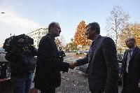 Visit of László Andor, Member of the EC, to the Restos du cœur, in Strasbourg