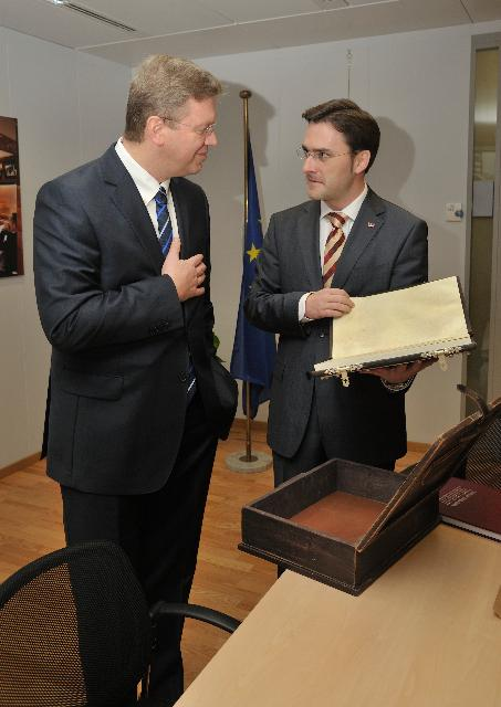 Visit of Nikola Selaković, Serbian Minister for Justice and Public Administration, to the EC