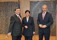 Visit of Christine Lieberknecht, Minister-President of the Land of Thuringia, and Stanislaw Tillich, Minister-President of the Land of Saxe, to the EC