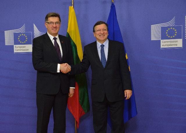 Visite d'Algirdas Butkevičius, Premier ministre lituanien, à la CE