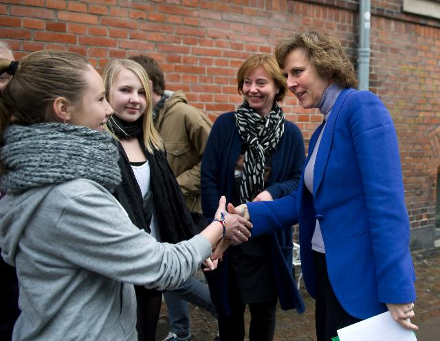Meeting between Connie Hedegaard, Member of the EC, and young Danish climate ambassadors