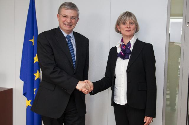 Visit of Sabine Laruelle, Belgian Minister for Middle Classes, SMEs, the Self-Employed and Agriculture, to the EC