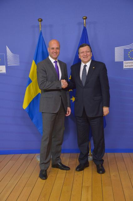 Visit of Fredrik Reinfeldt, Swedish Prime Minister, to the EC