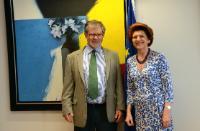 Visite de Joseph Weiler, élu président de l'Institut universitaire de Florence, à la CE