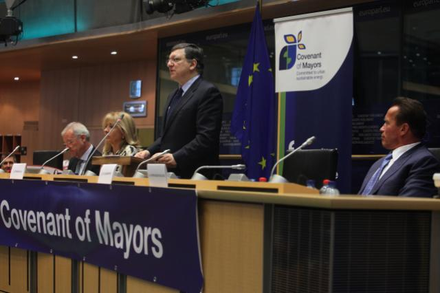 Participation of José Manuel Barroso, President of the EC, in the Covenant of Mayors Ceremony