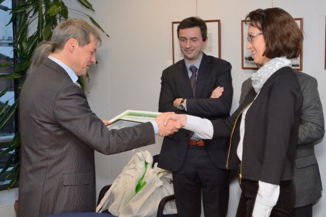 Award ceremony in  the Photo competition on agriculture by  Dacian Cioloş, Member of the EC in charge of Agriculture and Rural Development