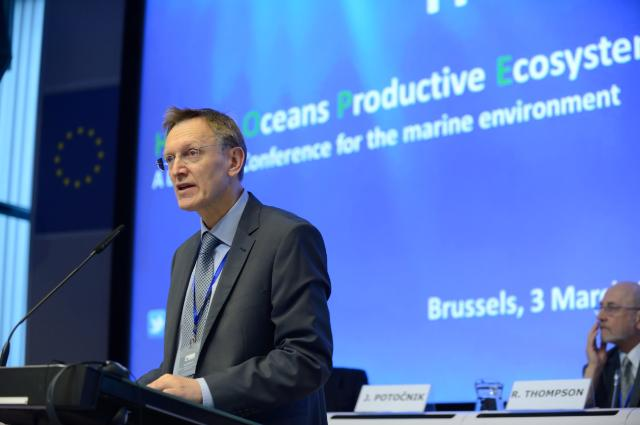 At the opening of Healthy Oceans - Productive Ecosystems (HOPE): a European conference for the marine environment, Brussels