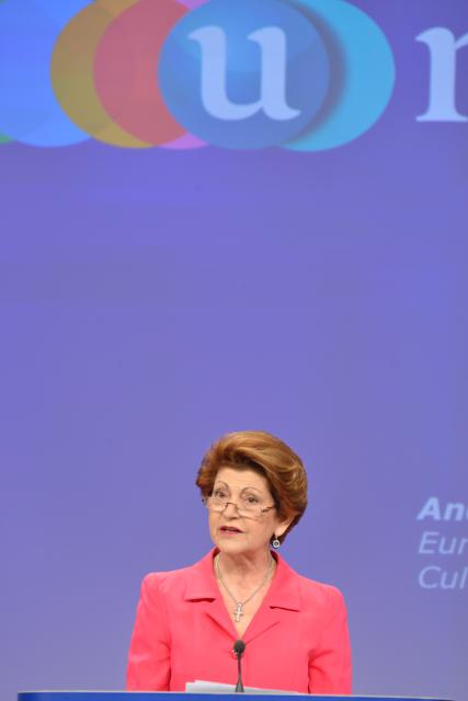 Press conference by Androulla Vassiliou, Member of the EC, on the launch of U-Multirank