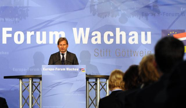 Participation of Johannes Hahn, Member of the EC, to Europaforum Wachau 2014