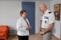 Visite de Philippe Pontiès, commandant de l'EUFOR RCA, à la CE