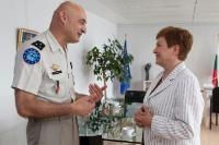 Visit of Philippe Pontiès, Operation Commander for EUFOR RCA, to the EC
