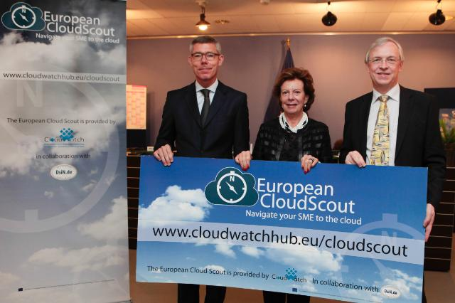 Participation of Neelie Kroes, Vice-President of the EC, in the launch of EU Cloud Scout